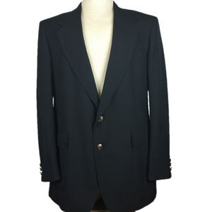 Towncraft Men Blazer 2 Button Gold 1 Vent Siz 42 L